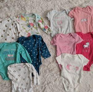 Baby girl onesie set (10)